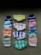 Hand Knitted 6 Inch XX Small Dog Coat/Jumper for Chihuahua, Teacup Yorkie