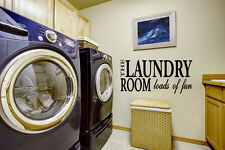 Laundry Room Wall Sticker Inspired Loads Of Fun Quote Vinyl Removable Art Decor