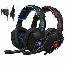 SADES Spirit Wolf Gaming Headset 3.5mm Stereo Headphone W/MIC For PS4 PC Phone