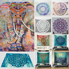 Indian Mandala Hippie Tapestry Wall Hanging Dorm Decor Bohemian Bedspread Throw
