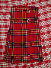 Gents 8 Yard Casual Scottish Kilt, Stewart Royal Tartan