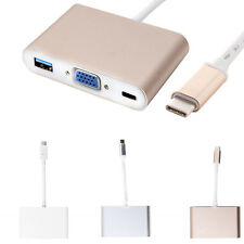 USB-C 3.1 Type C to OTG & USB-C VGA & USB Female Adapter Charger for MacBook 12""