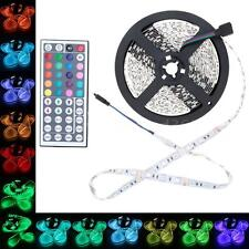 5M SMD 5050 RGB White 300LEDs Flexible LED Strip Lights 12V Adapter 32VT M0J9
