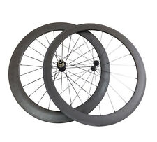 50mm+60mm Clincher Road Bike Carbon Wheels Cycling Ultra Light Bicycle Wheelset