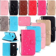 New -YPYB Pattern Rhinestone Leather Wallet Case Cover For Nokia Lumia N535 N640