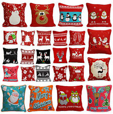 "100% Cotton Christmas Special Design Decorative Cushion Covers Size (18x18"")"