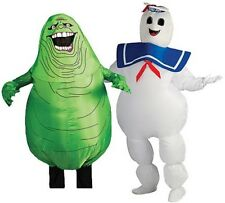 Adult Movie Ghostbusters Inflatable Stay Puft Marshmallow / Slimer Ghost Costume