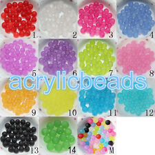 6-20MM Acrylic Clear Matte Frosted Round Beads Loose Spacer  Bead 20X 50X 100X