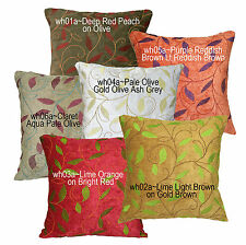 Wh Red Peach Olive Lime Lt Brown Purple Reddish Brown Cushion Cover*Custom Size