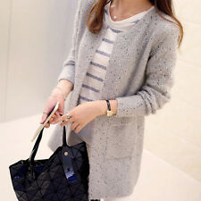 New Women Casual Long Sleeve Knitted Cardigan Sweaters Tricotado Cardigan WKAU