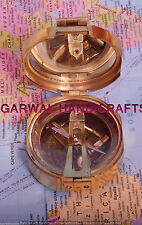 BEAUTIFUL VINTAGE NAUTICAL BRASS BRUNTON COMPASS COLLECTIBLE UNIQUE GIFT COMPASS