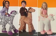 Toddler Ride-On Costume Giraffe Unicorn Zebra *18M & Up & 2T & UP Halloween NEW!