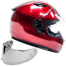 SNELL M2015 Approved DOT Adult Full Face Motorcycle Helmet Red