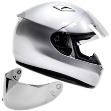 SNELL M2015 Approved DOT Adult Full Face Motorcycle Helmet Silver