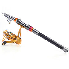 Telescopic Saltwater Carbon Spinning Fishing Rod with Reel Set Fishing Combos