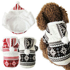 Pet Dog Warm Clothes Puppy Cat Winter Hoodie Costume Jacket Coat Apparel