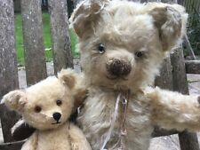 Bertie & Boo - Antique Vintage, Old Mohair Teddy Bear Pals - Chad Valley label