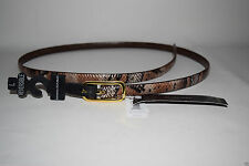 NEW BANANA REPUBLIC Womens Patent Leather SKINNY BELT Reversible Buckle Snake L