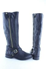 NEW Women's Dolce Vita Clarity Black Tall Zip Up Knee High Boots RTL $109