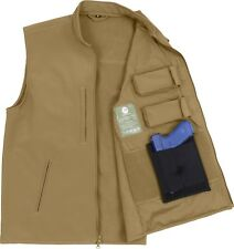 Coyote Brown Concealed Carry Tactical Soft Shell Military Vest