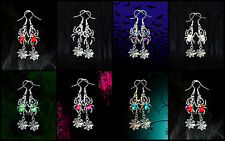 SPIDER WEB EARRINGS~WOMENS HALLOWEEN SEXY WICKED WITCH ADULT COSTUME ACCESSORY