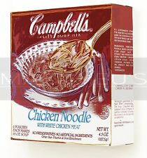 Andy Warhol-Campbell's Soup Box Chicken Noodle, Canvas/Paper Print, Pop Art