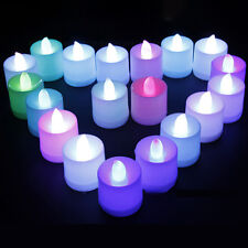24 Flameless Tea Light Candle For Valentines Day Wedding Party Battery Included