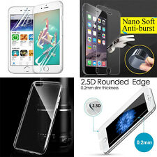 5x Tempered Glass Flim+Nona-proof Flim+ HD Soft Flim + TPU Case fr iPhone 7 Plus