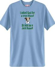 Dog T-Shirt I ask God for a true friend Jack Russell 5 Colors # 828 Men Adopt