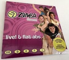 *BRAND NEW & SEALED* LIVE! & FLAT ABS - ZUMBA FITNESS EXERCISE DVD WORKOUT