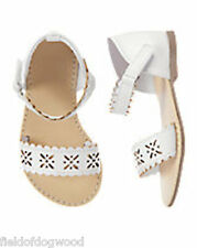 NWT GYMBOREE White cut out Sandals Shoes 5 6 7 8 9 10 11 12 13 1 2 4 Girls