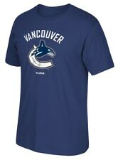 "Vancouver Canucks Reebok NHL ""Jersey Crest"" Men's Short Sleeve Blue T-Shirt"
