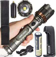 5000LM XM-L T6 LED Tactical Flashlight Zoomable Torch Lamp Battery Charger Lot