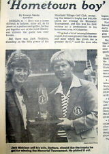 1977 newspaper JACK NICKLAUS wins MEMORIAL GOLF TOURNAMENT Muirfield DUBIN Ohio