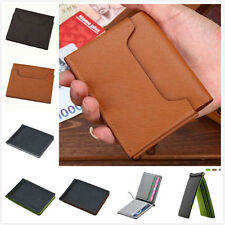 Brand Mens Leather Money Clip Slim Wallets Credit Card Holder Bifold Coin Purse