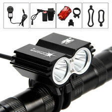 SolarStorm 5000Lm 2x CREE XM-L U2 LED Bicycle bike Light HeadLight Headlamp New