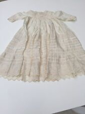 C 1920 silk and muslin Antique christening gowns