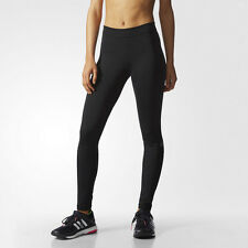 Adidas Tech Fit Womens Black Climalite Running Gym Long Tights Bottoms Pants