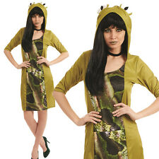 Ladies Sexy Frog Fancy Dress Costume Animal Womens Outfit M