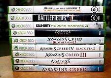XBOX 360, Games Lot, (9 Games) Assassin's Creed, Battlefield, Call of Duty...