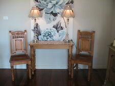 FULLY RESTORED ANTIQUE PINE HALL SOFA SIDE TABLE GORGEOUS ORNATELY TURNED LEGS