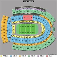 4 Tickets Ohio State Buckeyes vs Rutgers Scarlet Knights Football 10/1 Sect-17A