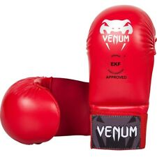 Venum WKF Approved Karate Mitts Without Thumb Red