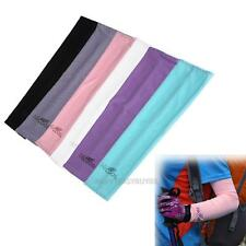 1 Pair Arm Cooling Sleeves UV Sun Protection Cooler Golf Bike Outdoor Sports