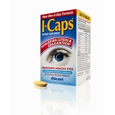 I-Caps Dietary Supplement for Healthy Eyes 60 -120 Tablets icaps Alcon