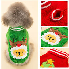 Pet Dog  Sweater Puppy Cat Winter Clothes Coat Striped Knit Knitwear Christmas