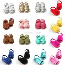 0-18 M Newborn Baby Boy Girl Tassel Soft Sole Leather Shoes Kid Toddler Moccasin