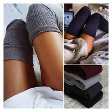 LADY Winter Soft Cable Knit Over knee Long Boot Thigh-High Warm Socks Leggings