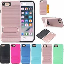 For Apple iPhone 7 /7 Plus Case Slim Kickstand Credit Card Skin Hard Armor Cover