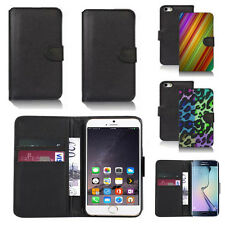 black pu leather wallet case cover for apple iphone models design ref q338